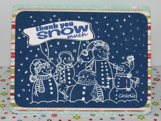 Silhouette Snowman Family Sketch Card using Amy Chomas Pen Holder in the Silhouette Cameo #AmyChomas #SilhouetteCameo