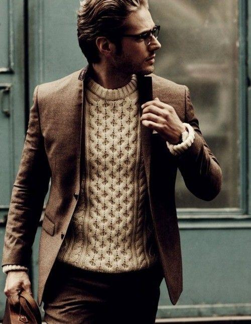 Sweater with blazer.