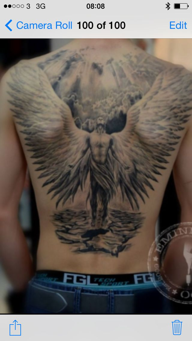 Dream angel tattoo | tatoos | Angel tattoo men, Tattoos ...