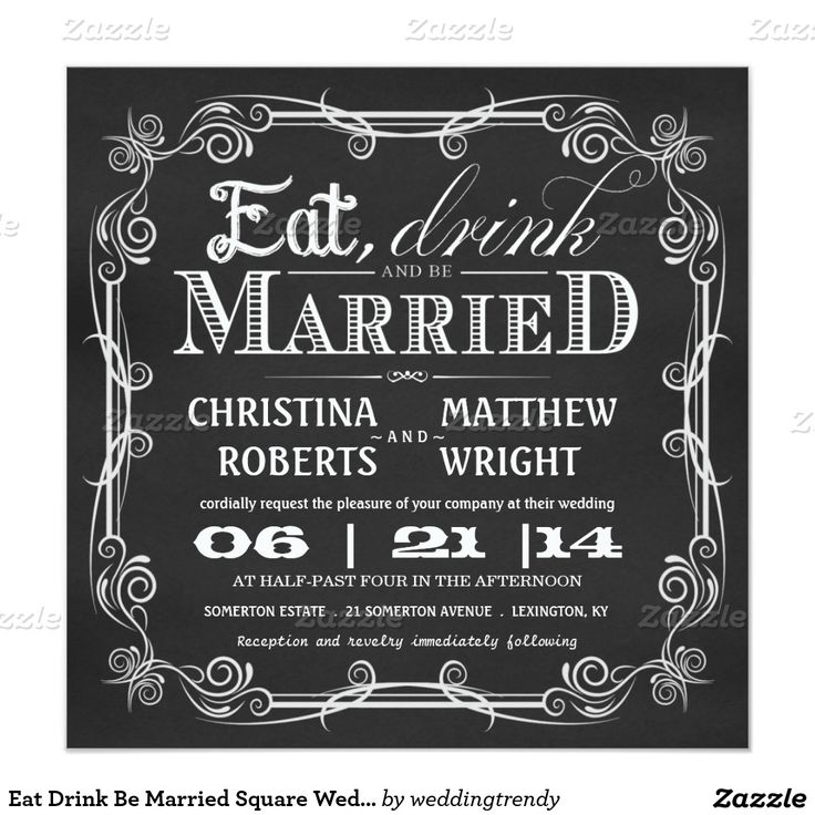 1000 Images About Eat Drink And Be Married On Pinterest: 1000+ Ideas About Square Wedding Invitations On Pinterest