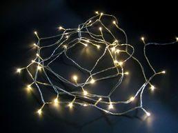 LED-ulkovalosarja, 40 lamppua, lämmin valkoinen, IP44