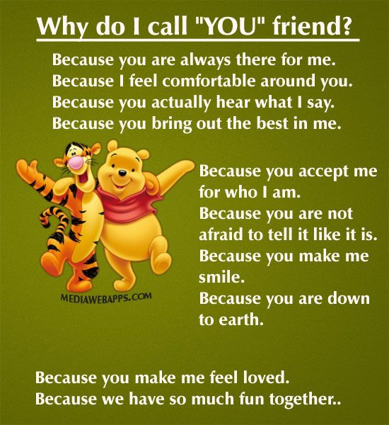 I will always call you friend