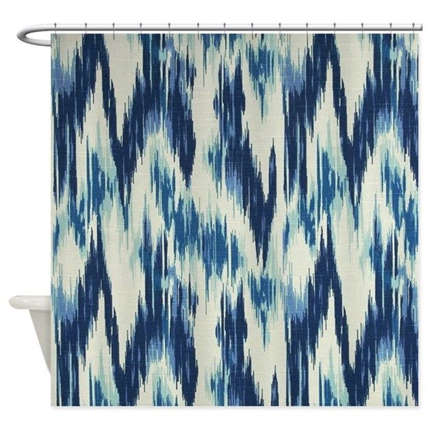 Ikat Chevron Shower Curtain  Instantly update your bathroom with a customized shower curtain that looks great and helps keep your floors dry.Comes in one size: 69″ x 70″100% softened polyesterStandard si