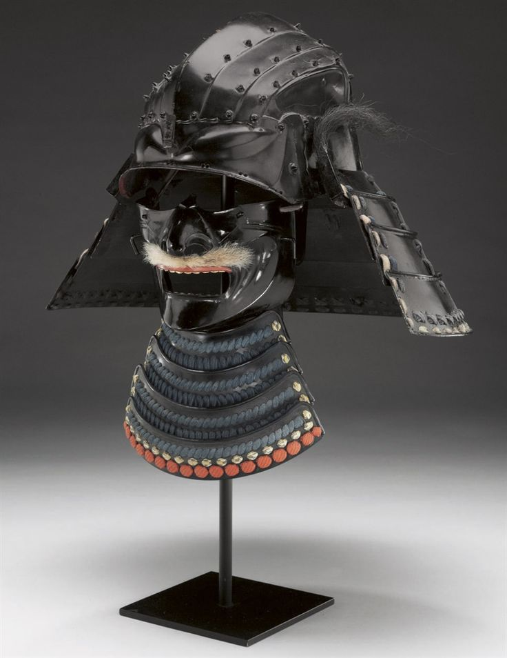 A Kawari Kabuto (Exotic Helmet) and Face Mask - EDO PERIOD ...