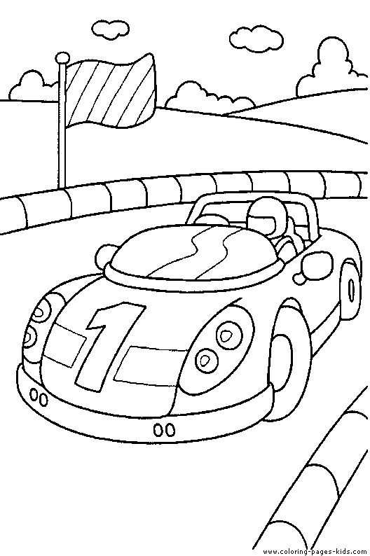 printable coloring pagesrace car driver in a race car coloring page