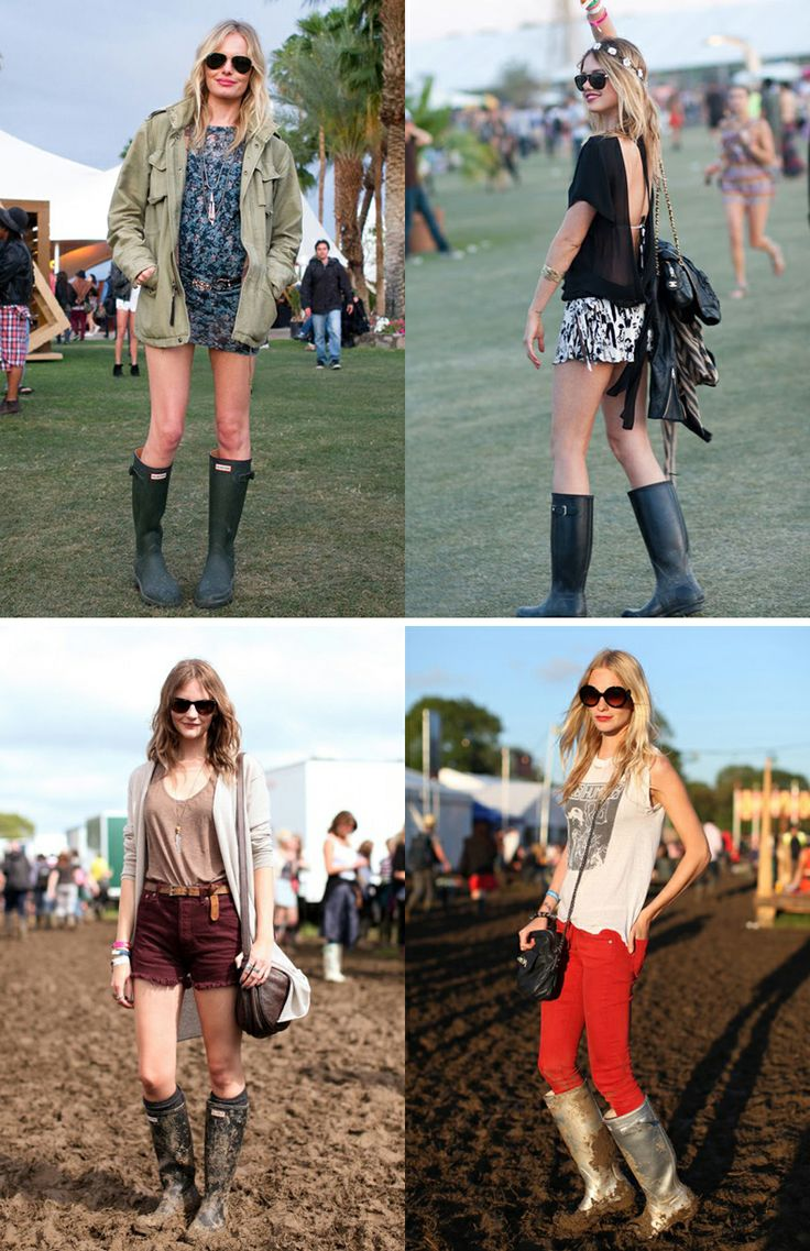 This is how to wear Hunter Boots at a festival!