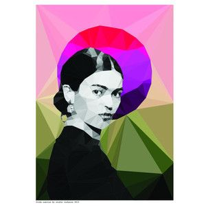 Frida sunrise is printed on to quality archival 190gsm paper 210mm x 297mm (A4) each print is carefully packaged in a cello envelope and protected by a thick cardboard backing © 2014 Frida Kahlo Corporation. All Rights Reserved