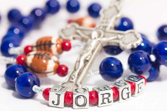 Houston Texans Football Rosary by trendytraditionsbiz on Etsy, $46.00