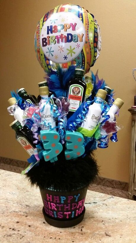 Liquor bouquet I created