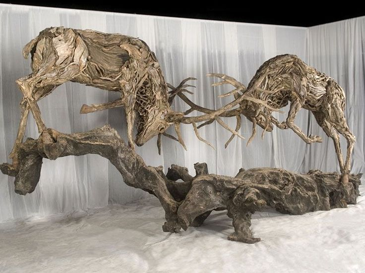 Amazing driftwood sculptures by James Doran Webb | Lisa Cox Garden Designs Blog