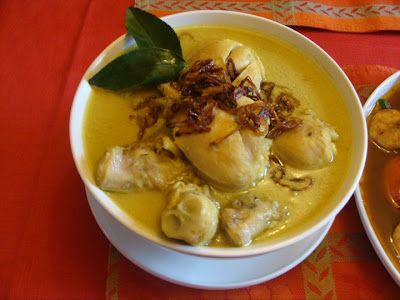 Indonesian food- opor ayam