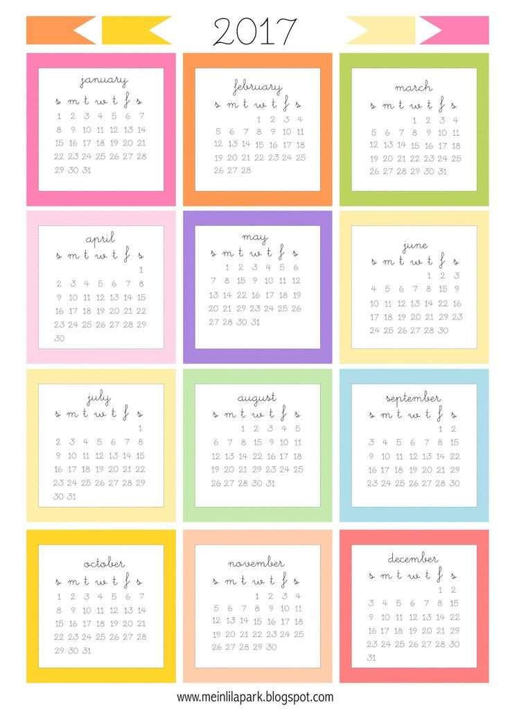 FREE printable 2017 mini calendar cards | 2017 bullet journal stickers …