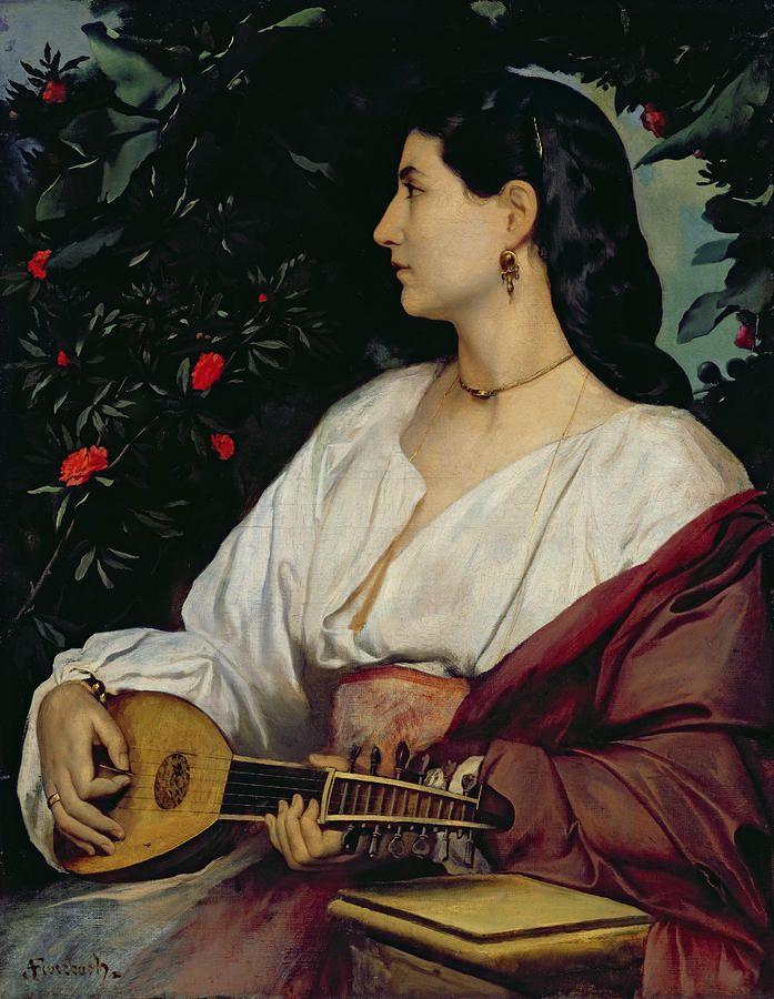 The Mandolin Player Painting  - The Mandolin Player Fine Art Print
