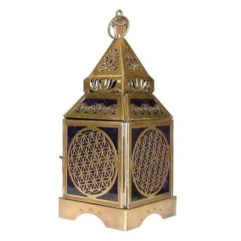Flower of Life Gold Lantern - The Hippie House