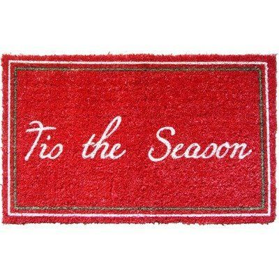 """Entryways Tis The Season Hand Woven Coir Doormat by Entryways. $39.65. This mat is hand stenciled with permanent fade-resistant dyes. Hand made from all-natural coconut fiber which is an excellent dirt-trapper; 3/4"""" thickness. 18 in x 30 in. This beautifully designed hand-woven doormat will enhance your entry way or patio. It's made from the highest quality all natural coconut fiber."""
