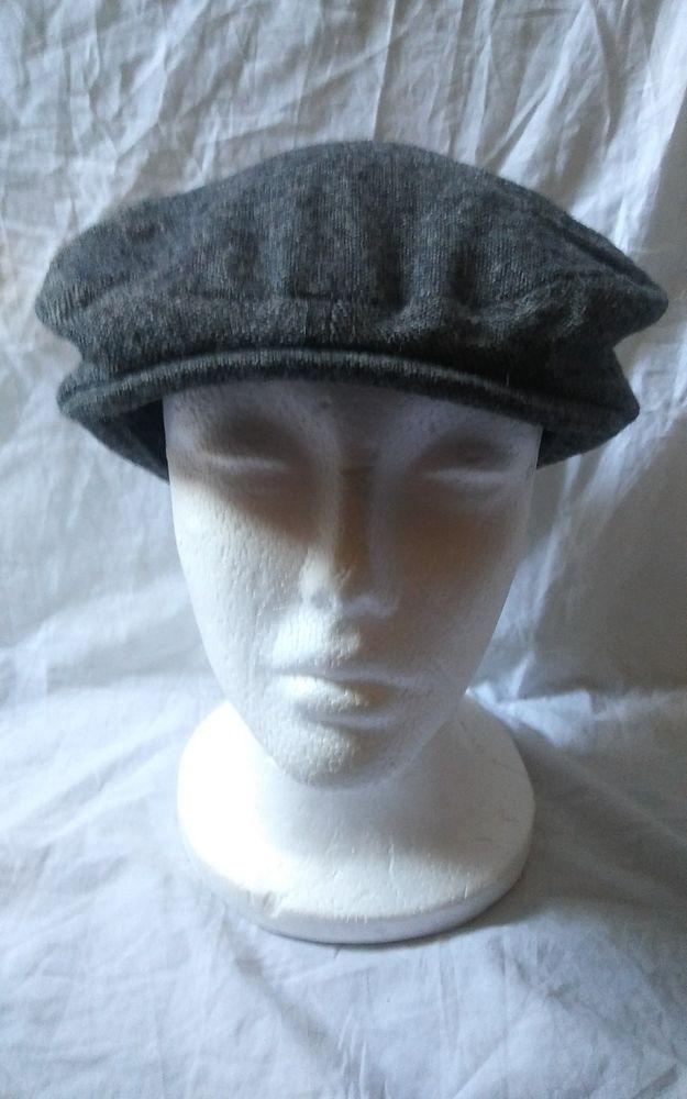 ZARA Accessories Gray Cabbie Newsboy Cap FLAT Hat Size Medium #Zara #NewsboyCap