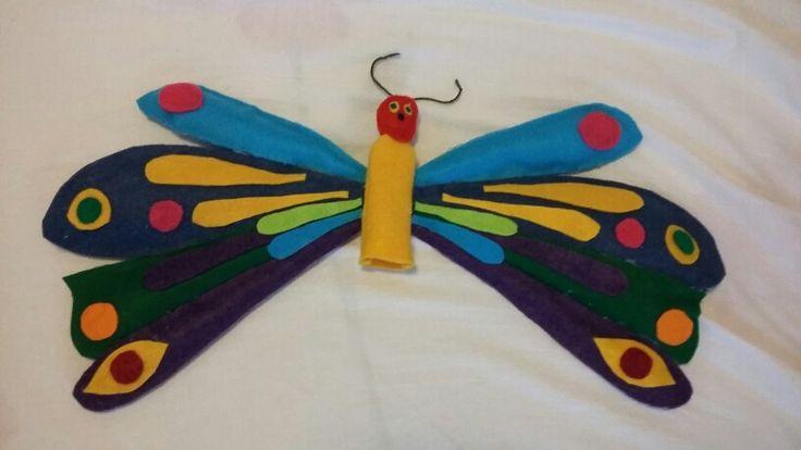 Piccolo bruco maisazio farfalla