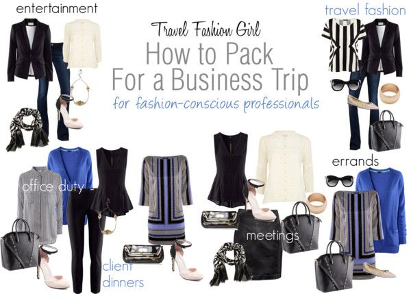 This 10 Piece Business Packing List shows you how to mix and match your travel wardrobe to make 1-2 weeks worth of outfits! Good for wardrobe basics too.
