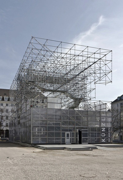 Schaustelle an der Pinakothek der Moderne in München  J. MAYER H. Architects    Photographed by Anton Schedlbauer