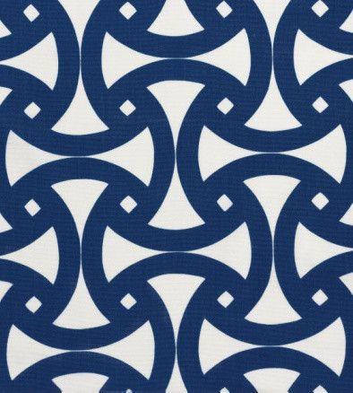 Santorini Print Fabric, Marine mediterranean