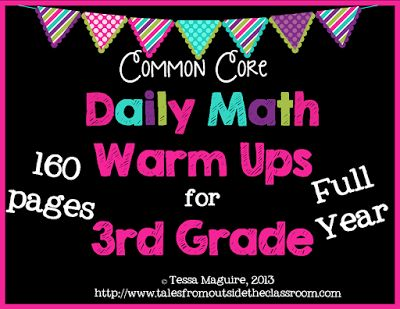 Daily practice of the third grade Common Core standards for math  Set up to be a spiral review of the year.