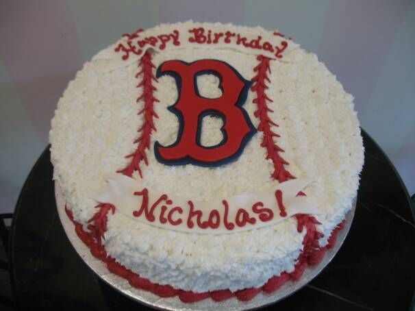 Cake Designs Pembroke Pines : boston redsox cake Boston_Red_Sox_op_606x454.jpg Bday ...