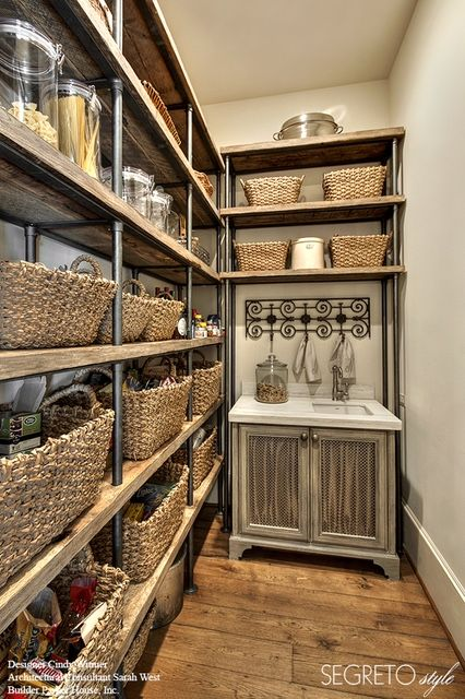 Segreto Secrets - Design Chic An organized pantry is the best - love using baskets!!