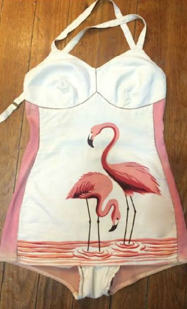 Vintage Flamingo Bathing Suit