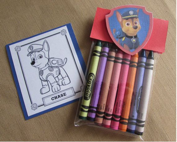 Paw Patrol Crayons Set Of 12 Party Favors