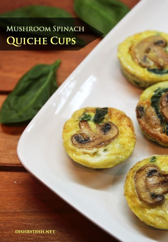 Mushroom Spinach Quiche Cups | FOOD | Pinterest