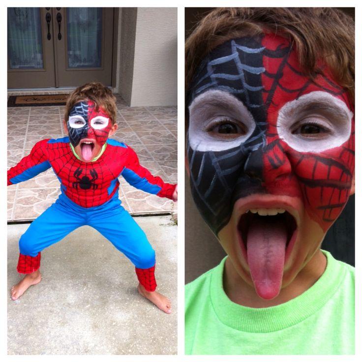 Kids Spider-Man/ Venom Face Paint