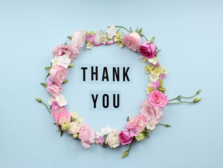 Floral Thank you wreath for Revised Edition