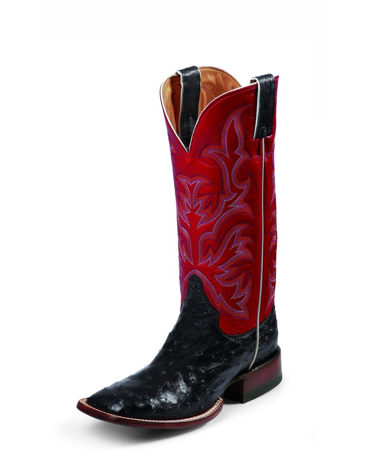 Justin Women's Black Full Quill Ostrich Boot - L8505