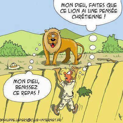 lunch humor in French