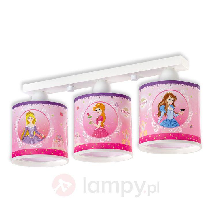 Różowa lampa sufitowa Princess dla dzieci 2507341