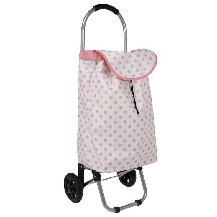 Polka Dot Rolling Shopping Cart