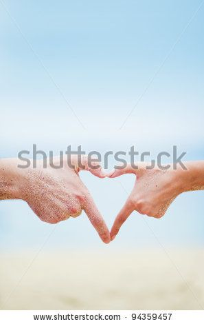 stock photo : Young beautiful caucasian couple on the beach