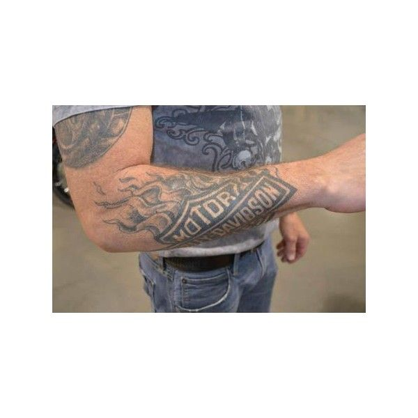 (1) harley davidson forearm tattoos - Google Search | Tattoo Designs /... ❤ liked on Polyvore featuring accessories and body art