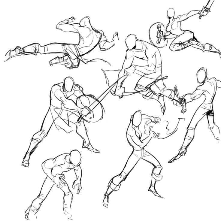 Poses. Action. Male | Figure drawing, Art reference poses ...