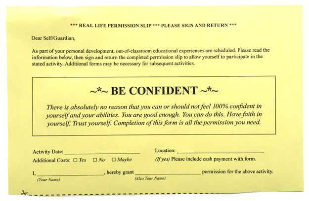 8 Permission Slips For Real Life - payment slips