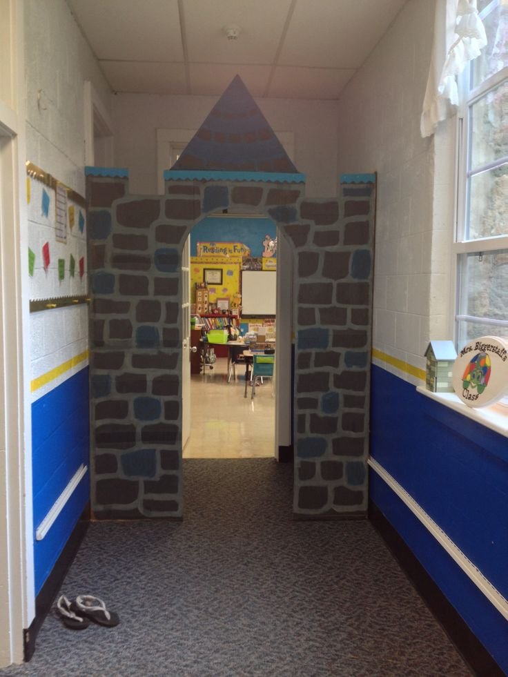 My husband and I made this castle for my classroom fairy tale back to school theme!