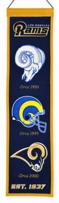$29.99 - NFL Los Angeles Rams Heritage Banner - Display your team pride on the wall with this unique NFL Heritage Banner that chronicles the evolution of your favorite team. Comes ready to hang.