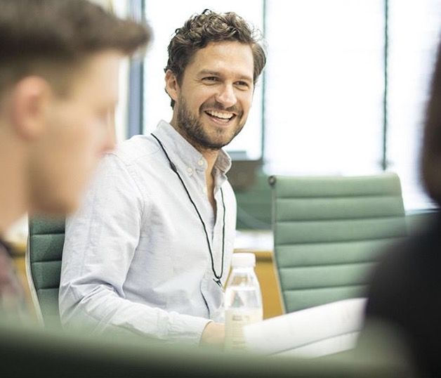 Ben Aldridge taking part in a reading at the Houses of Parliament for the National Youth Theatre #nyt50plays