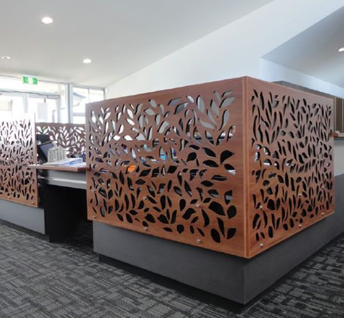 Beautiful laser-cut office cubicles by Urban Screen #office ideas #working design| http://workingdesigncollections95.blogspot.com