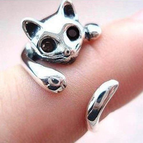 Anillo gato de metal ajustable