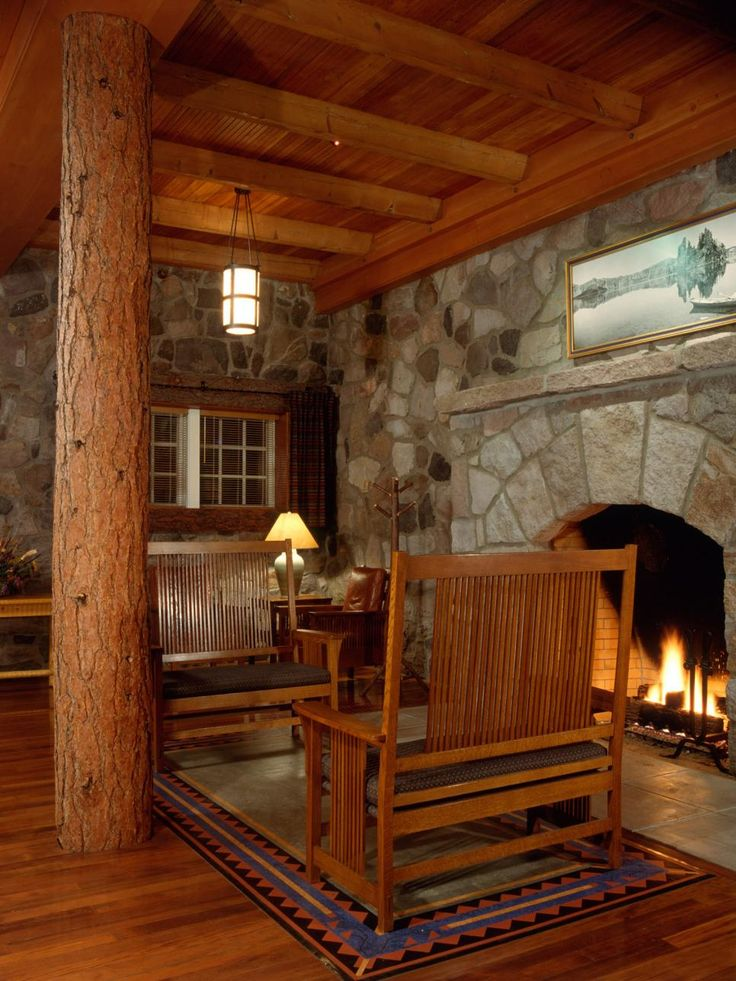 How to Get a Historic Lodge Look | HGTV >> http://www.hgtv.com/design/home-styles/get-the-lodge-look-at-home-pictures?soc=pinterest