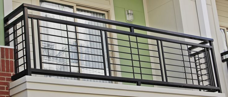 A nice and simplistic iron balcony. Each balcony railing is made with nothing less than high quality material. www.irondesignstudio.com?utm_content=buffer91de6&utm_medium=social&utm_source=pinterest.com&utm_campaign=buffer #iron #balcony
