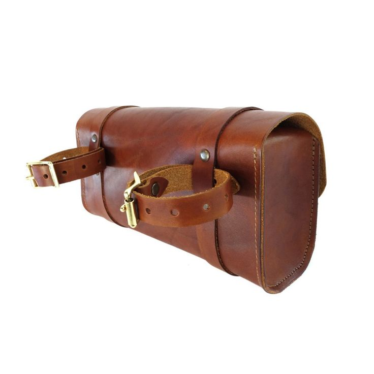 Handcrafted in Portland, Oregon USA. Please allow 2 to 3 weeks for delivery. These handmade leather bags are perfect to carry your tools or personal belongings on your motorcycle or bike. It features