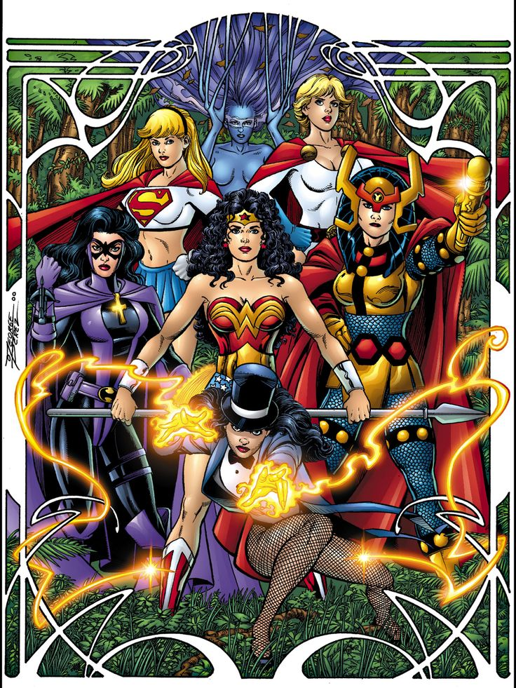 DC Comics women by George Perez: Justice League of Amazons ...