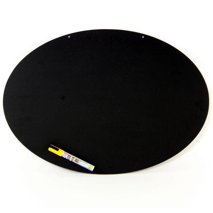 EaziWipe A2 Oval Chalk Board